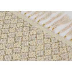 Tapis coloré fils dorés 80*120 cm