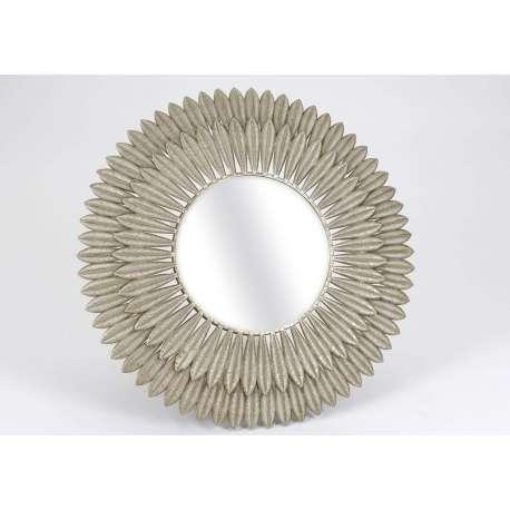 Miroir plumes en métal doré 120 cm
