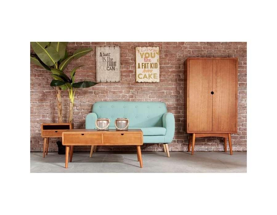 Table de chevet bois rétro Vical Home