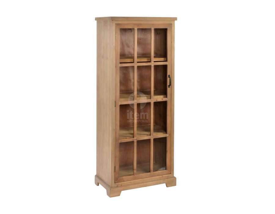 Armoire vitrée bois campagne