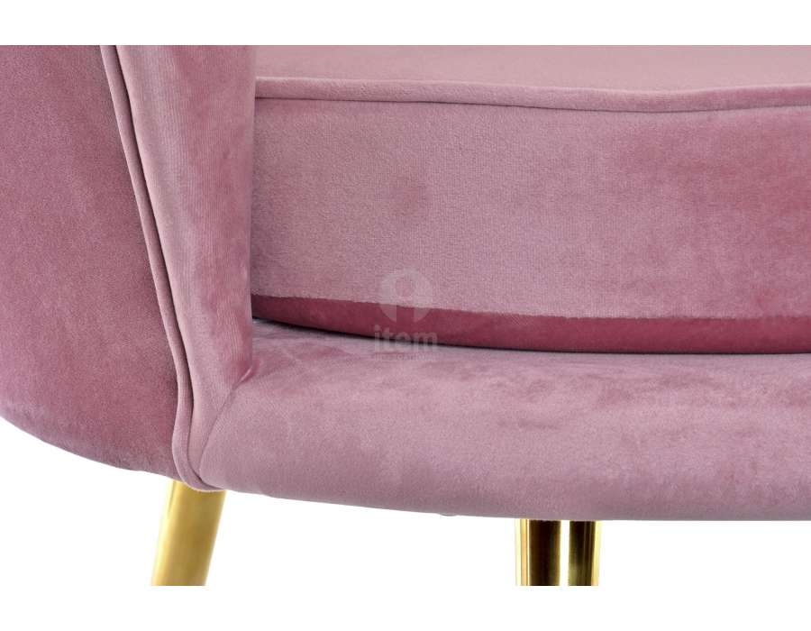Fauteuil rose coquillage