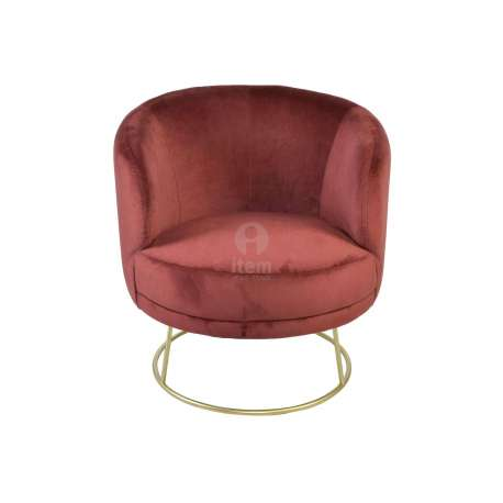 Fauteuil rouge velours contemporain