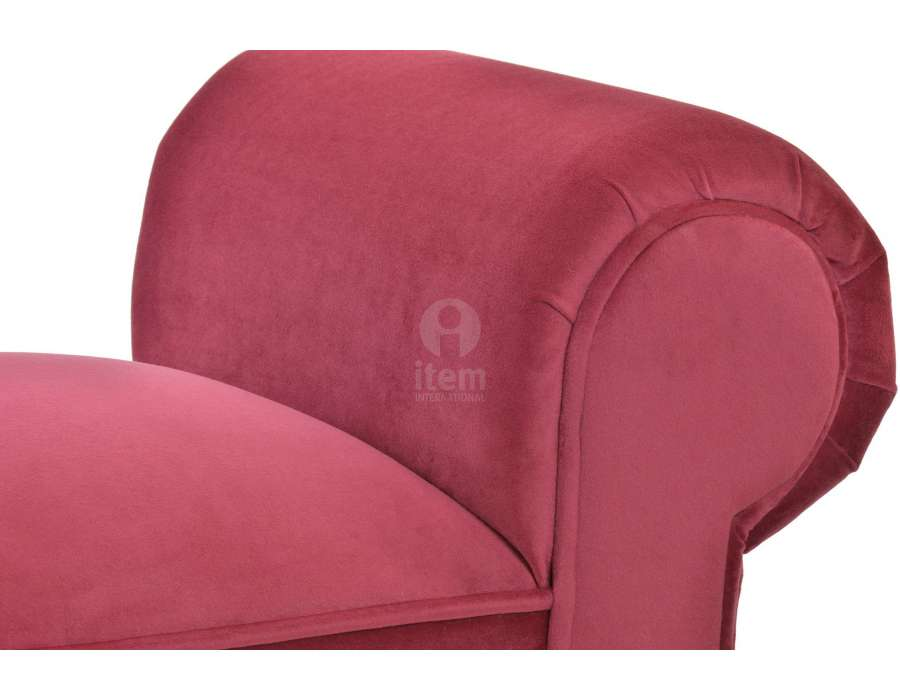 Banquette baroque rouge gros accoudoirs