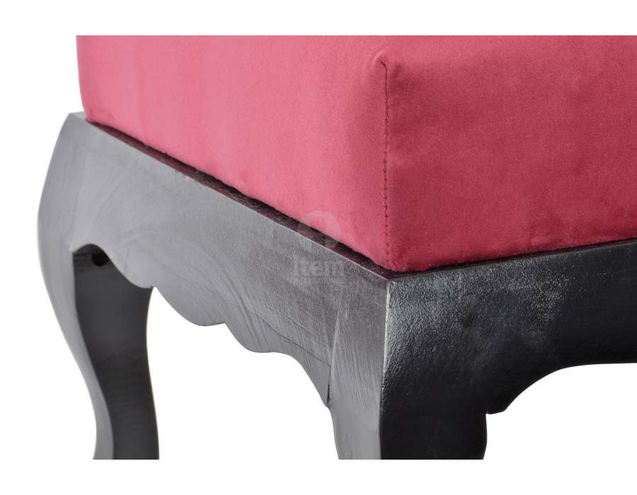 Pouf repose pieds rouge baroque