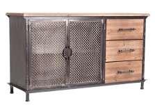 Buffet industriel 2 portes 3 tiroirs
