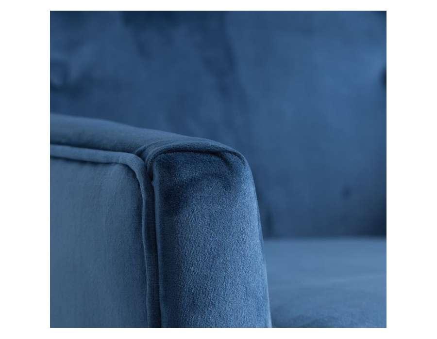 Fauteuil bleu scandinave Vical Home