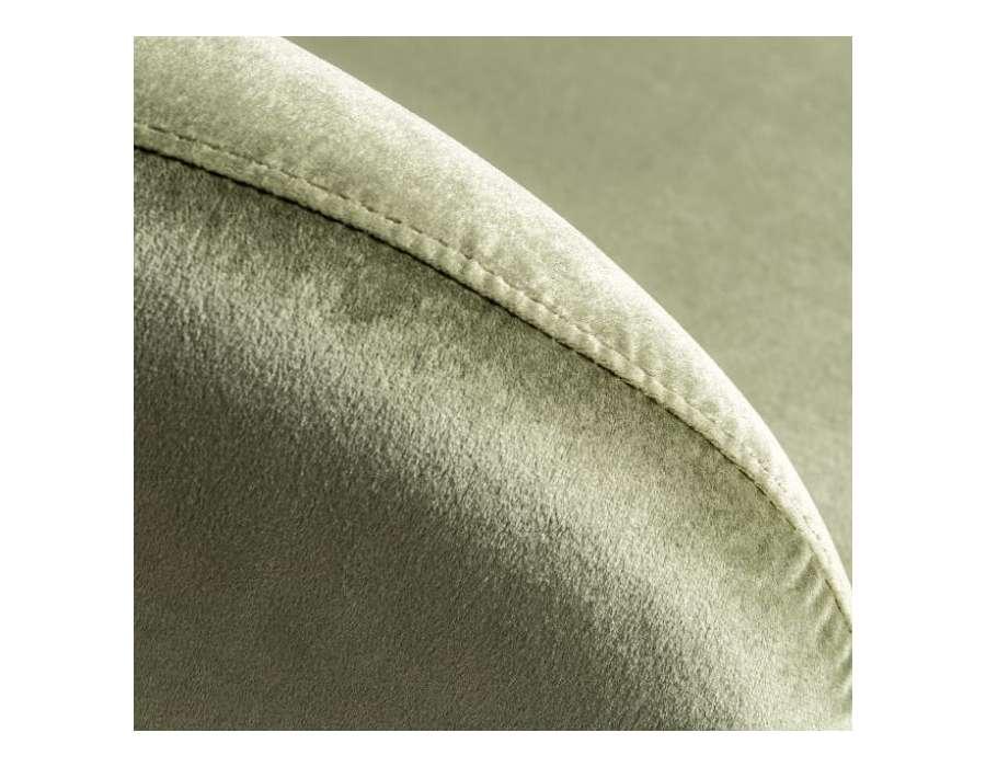 Fauteuil vert satiné design