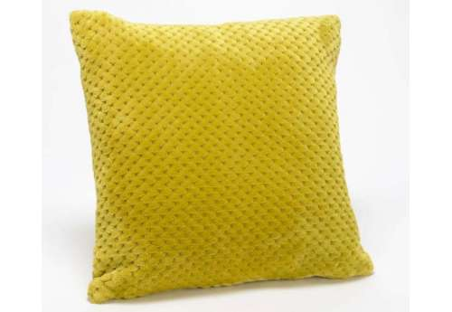 Coussin olive damier