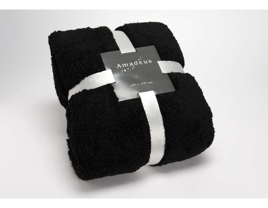 Plaid noir cocoon 170*130 cm