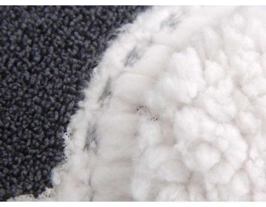 Plaid gris anthracite mouton 130*170 cm