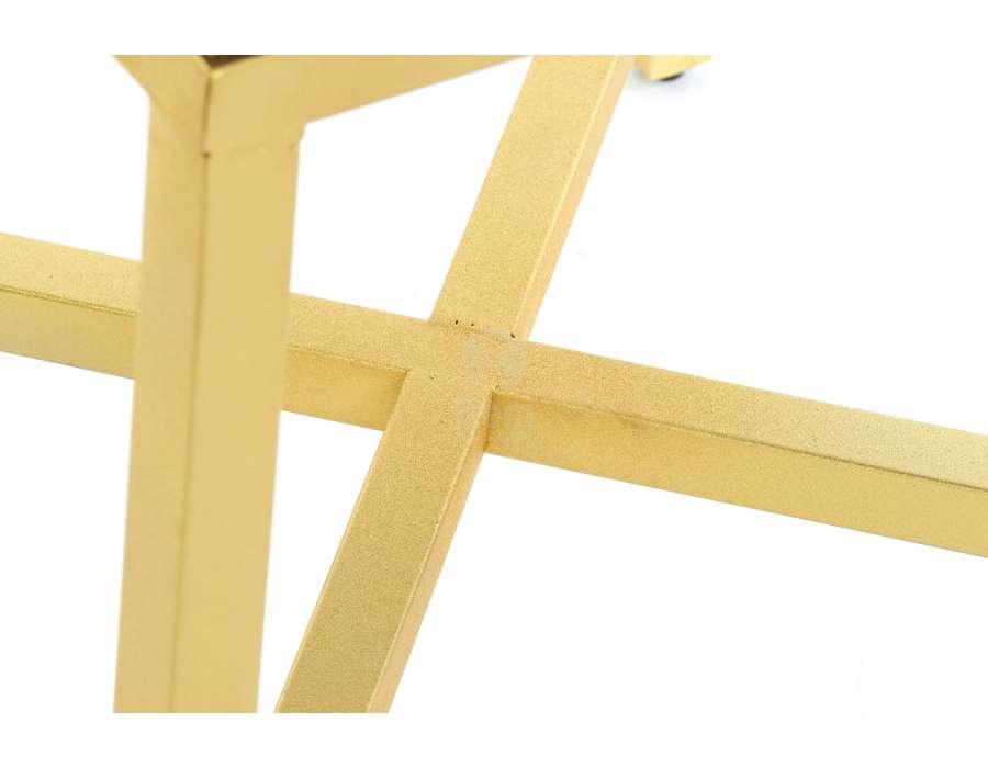 Table de nuit miroir socle doré Art deco