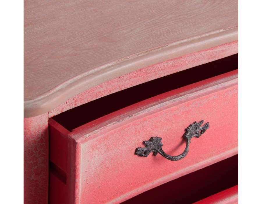 Commode rouge craquelée patinée Vical Home
