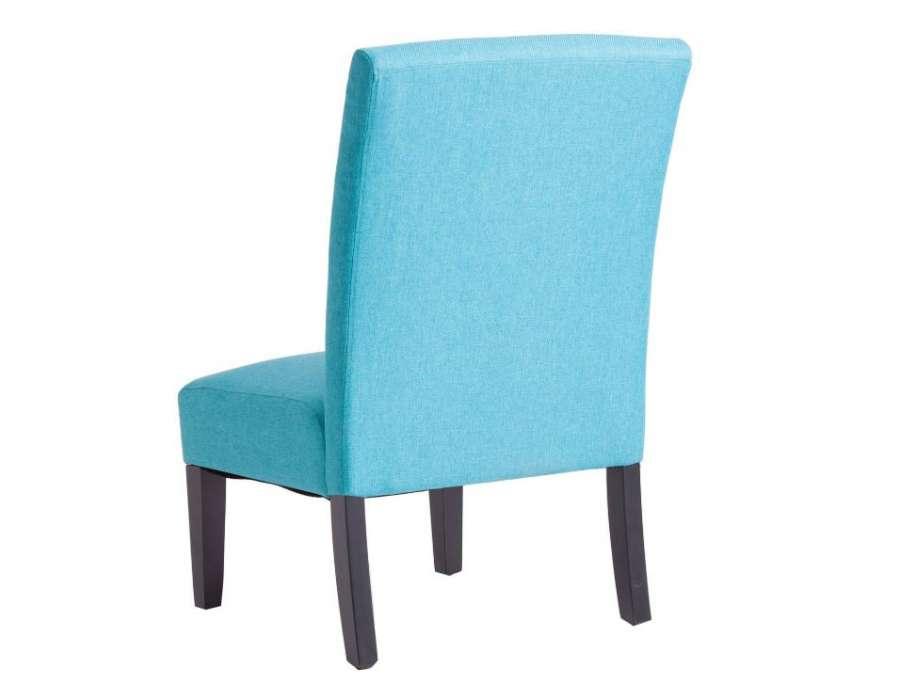 Chauffeuse basse turquoise