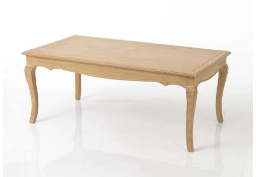 Table basse galbée bois cérusée  Mémory