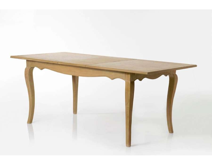 Table galbée bois cérusée Mémory