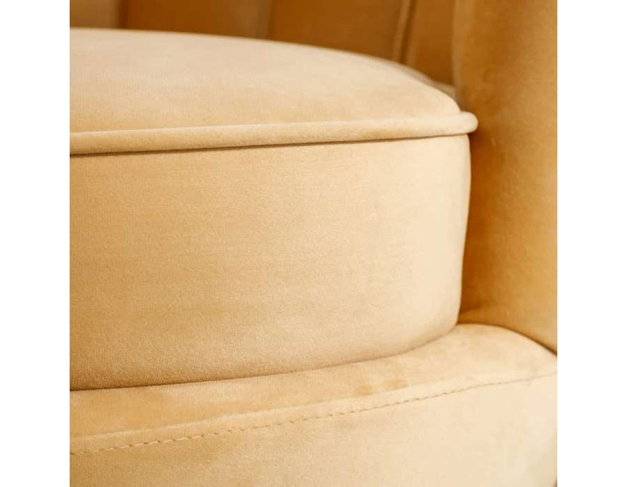 Fauteuil beige coquillage