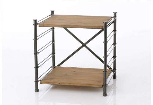 Bout de canapé modulable en métal et bois