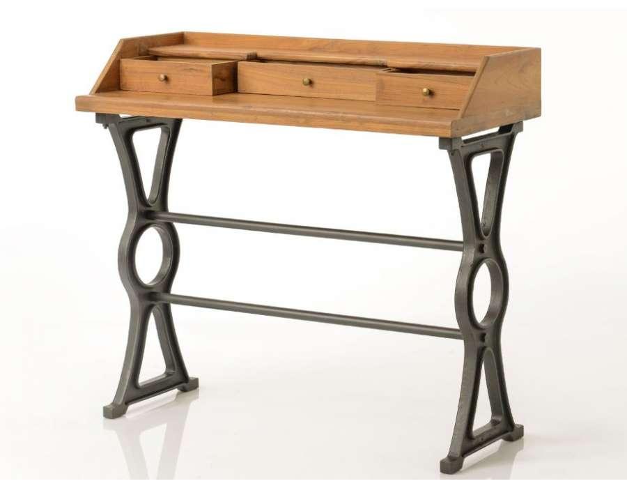 Bureau industriel bois style atelier