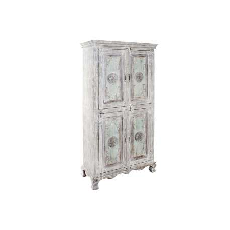 Armoire indienne blanchie