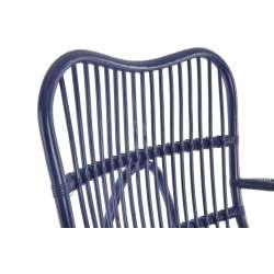 Rocking chair bleu