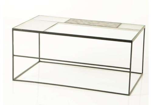 Table basse verres composés et métal