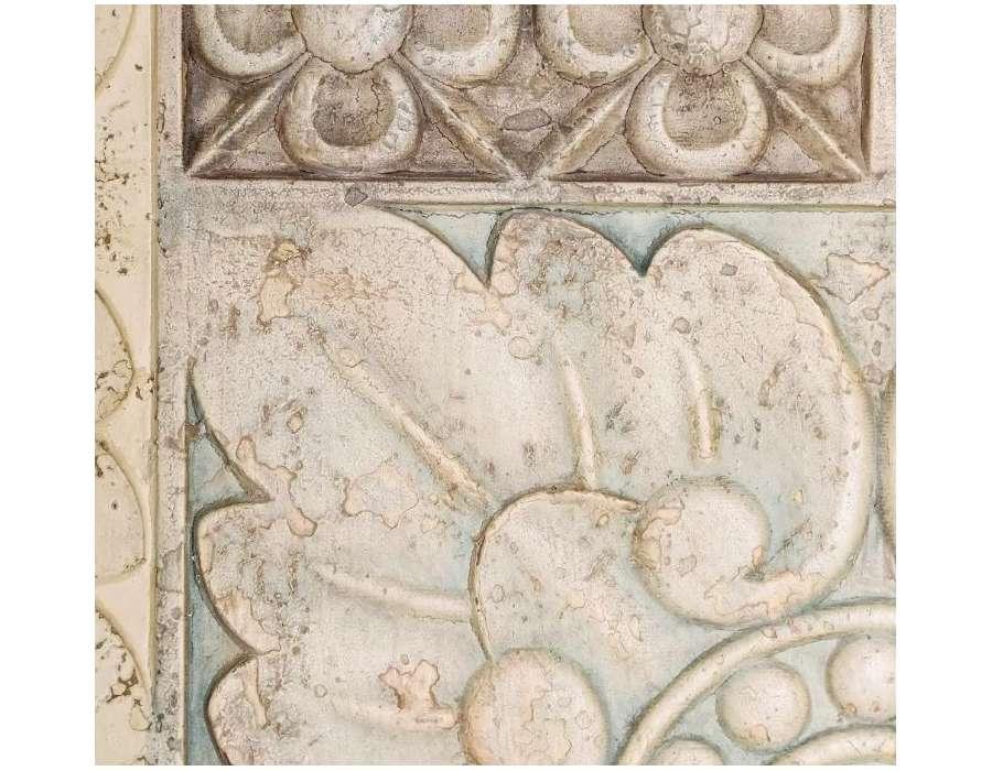 Armoire vieillie sculptée 2 tiroirs Irene