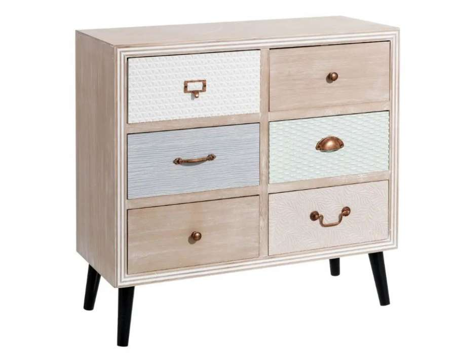 Commode scandinave pastel