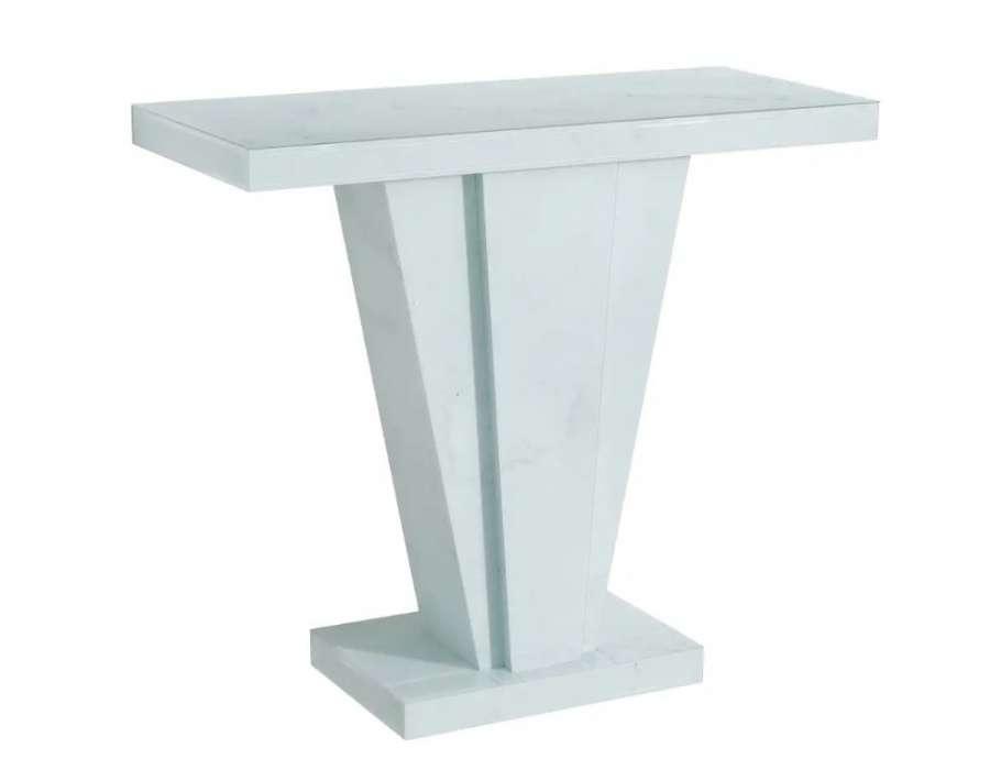 Console moderne marbre blanc