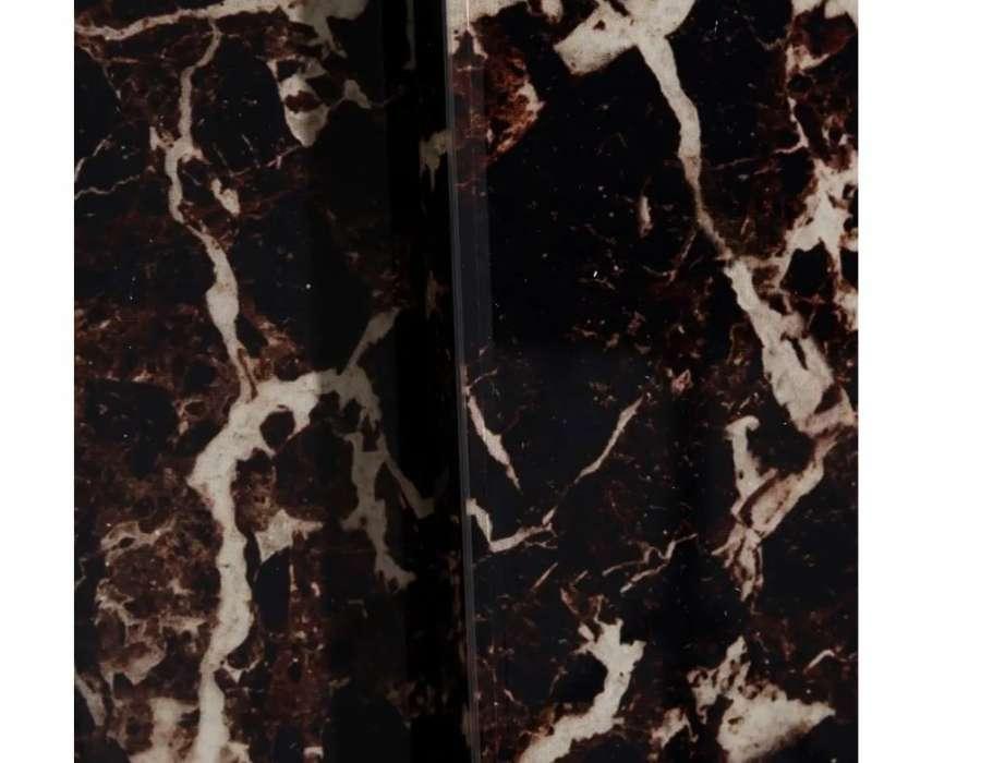 Console moderne marbre noir