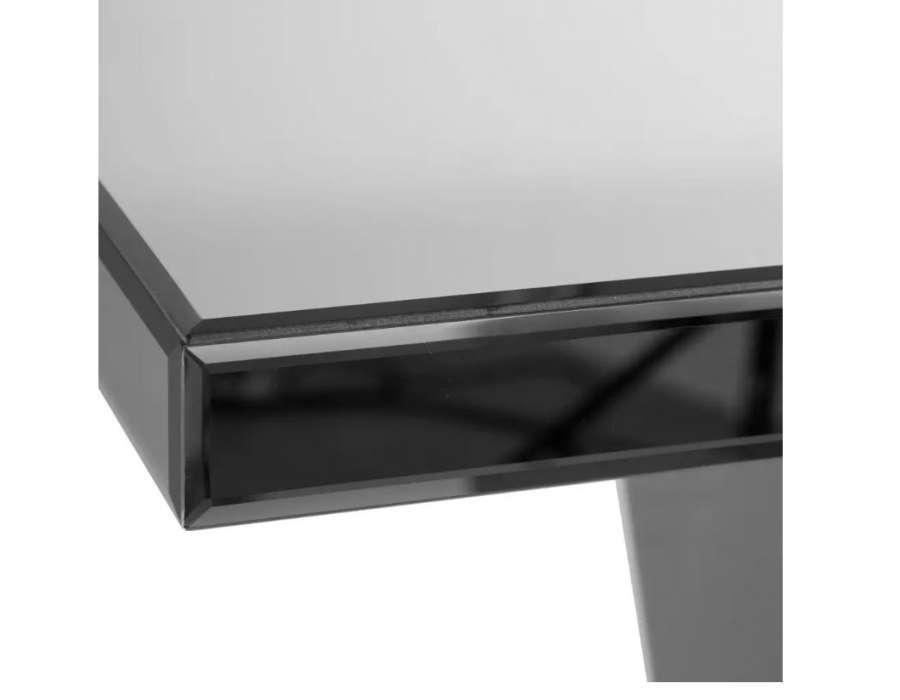 Console moderne miroir grise