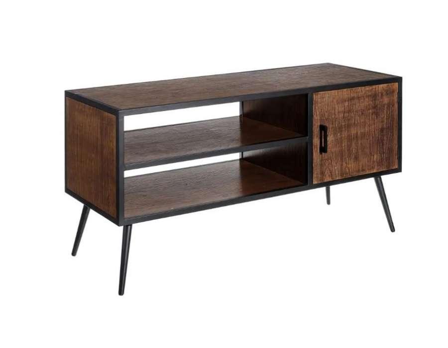 Meuble tv moderne bois foncé Firmin