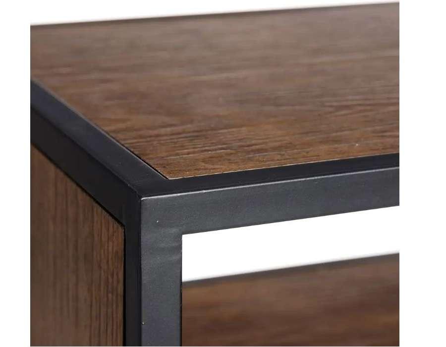Bout de canapé moderne bois foncé Firmin
