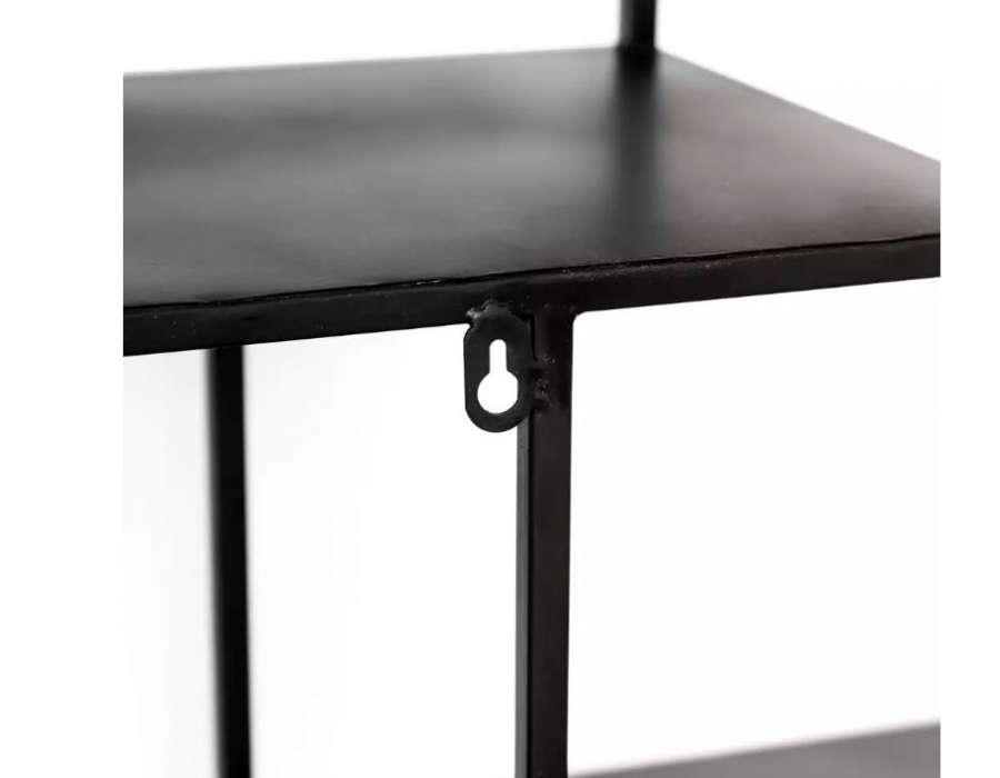 Etagère métal noir décalée de 129 cm