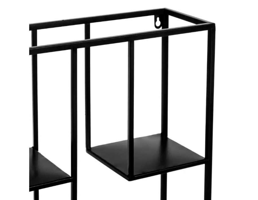 Etagère métal noir à suspendre