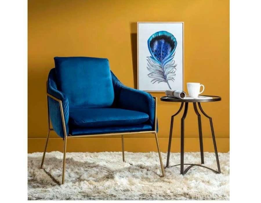 Fauteuil Arty bleu large