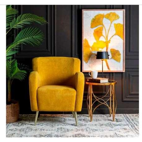 Fauteuil jaune vintage profond