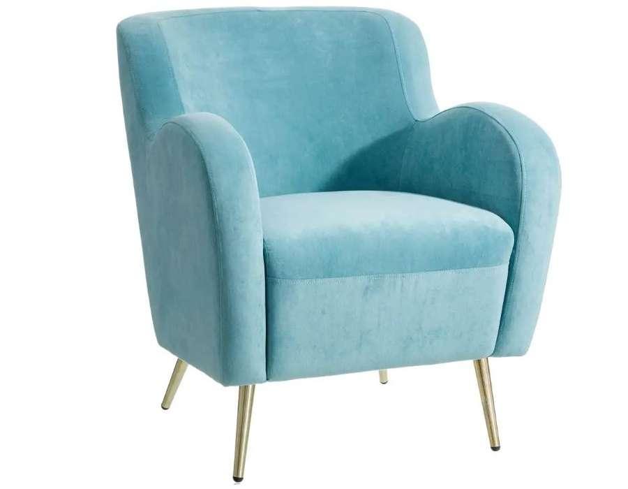 Fauteuil bleu vintage profond