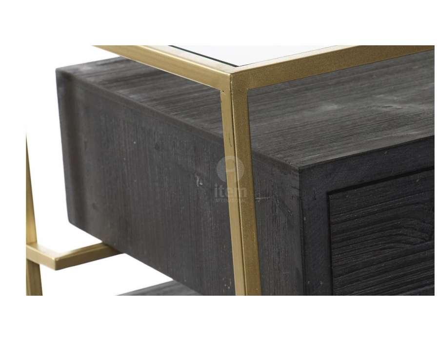 Table de chevet 3 tiroirs Edias