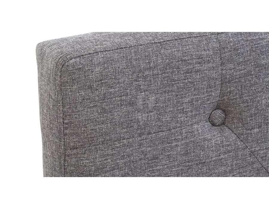 Tête de lit grise chinée capitonnée 160 cm