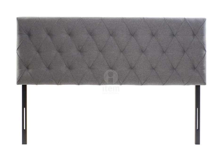 Tête de lit grise chinée capitonnée 160 cm à accrocher