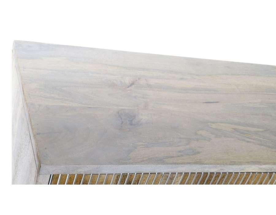 Buffet scandinave en manguier blanchi 180 cm