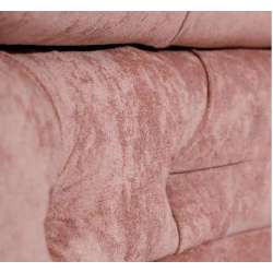 Canapé rose capitonné demi lune
