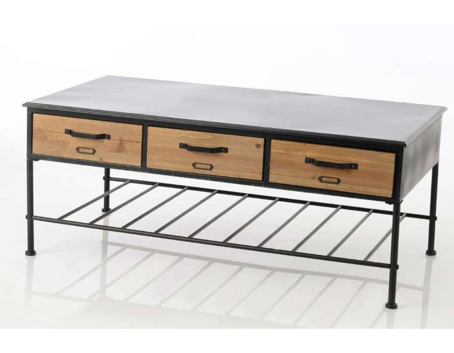 Table de salon industrielle Lois