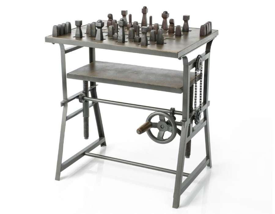Table pour jeux d'échec industrielle