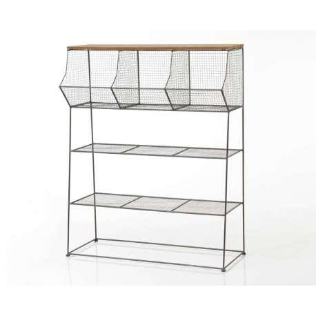 Etagère industrielle métallique avec casiers à poser