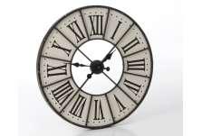 Horloge industrielle fond blanc 70 cm