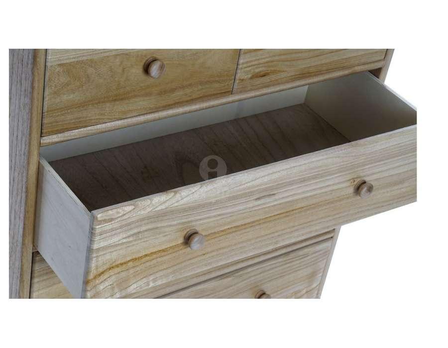Commode bois naturel 5 tiroirs