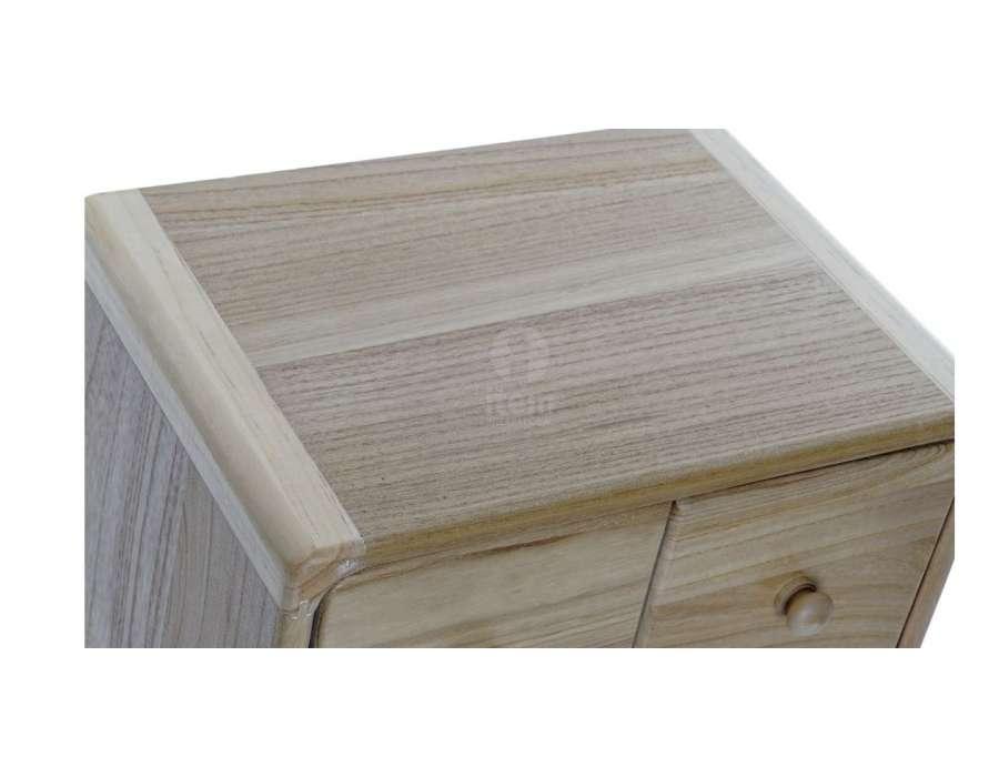 Chiffonnier bois naturel 6 tiroirs