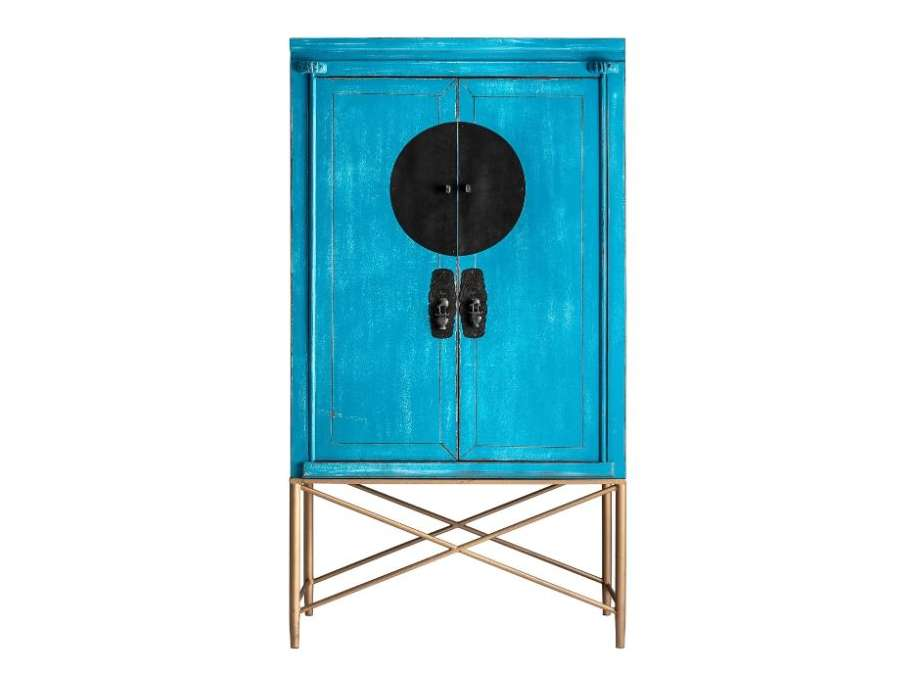 Grande armoire chinoise bleue Vical Home
