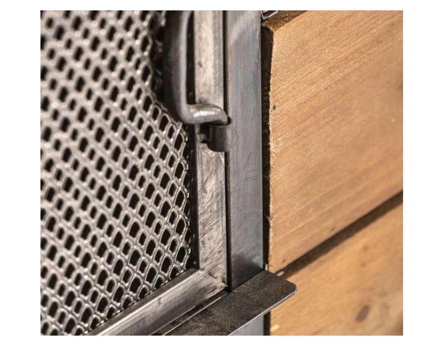 Buffet industriel avec casiers et tiroirs